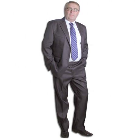 Sivý pánsky oblek spoločenský na výšku 176 - 182 cm Galant 160621