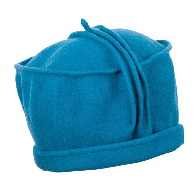 9b3c2677e Petrolejovo modrý dámsky klobúk vlnený TONAK 87379