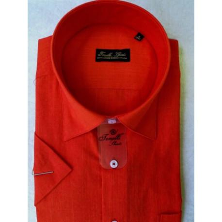 ebb055a09aee Červená pánska košeľa krátky rukáv Tonelli 110801