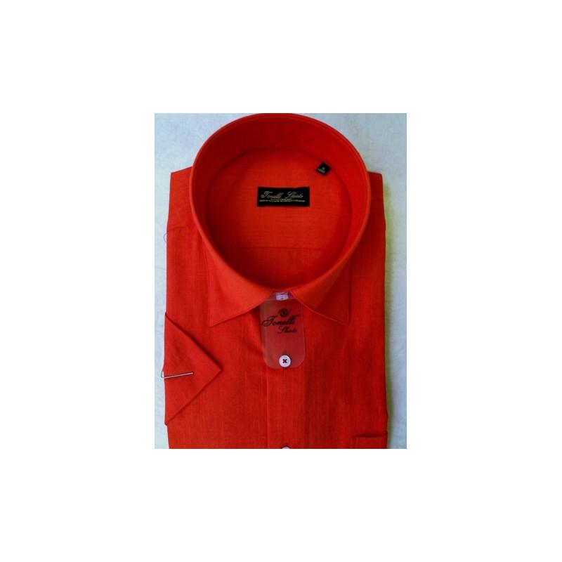 48623708dad3 Červená pánska košeľa krátky rukáv Tonelli 110801