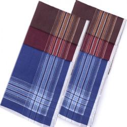 Pánske vreckovky modrá bordová hnedá 6 ks Etex 90607