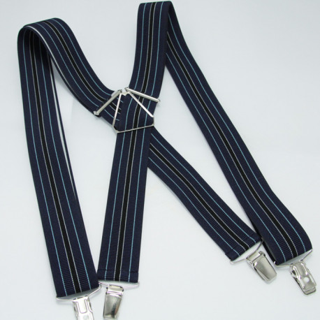 Modré pánske traky Assante 90103