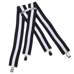 Čierno biele traky super široké Assante 90116