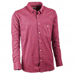 Červená pánska košeľa dlhý rukáv 100% bavlna Tonelli 110900