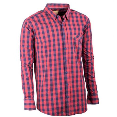 Červená pánska košeľa dlhý rukáv 100% bavlna Tonelli 110902