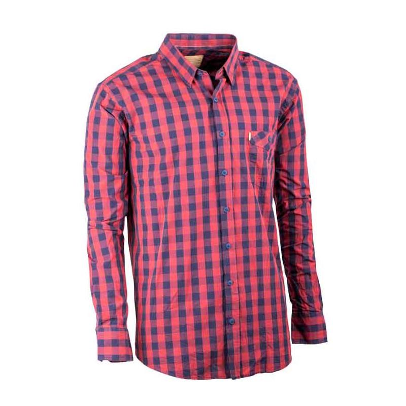 b4543cb04e41 Červená pánska košeľa dlhý rukáv 100% bavlna Tonelli 110902