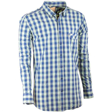 Zelená pánska kockovaná košeľa Tonelli 110903