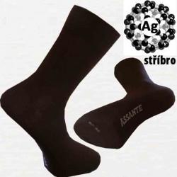 Hnedé antibakteriálne pánske ponožky Assante 71110