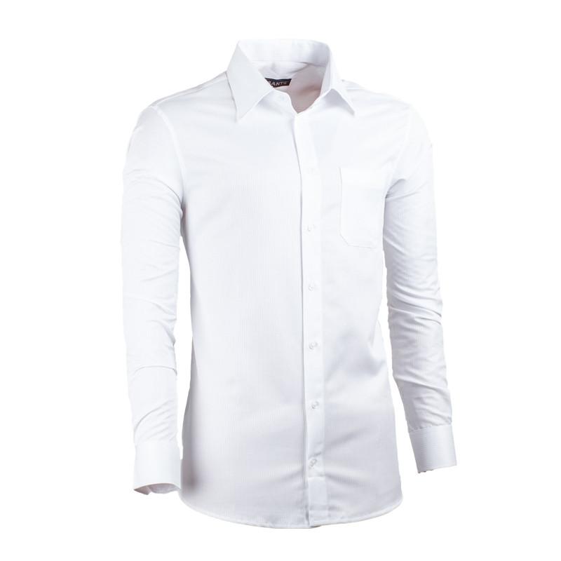 6d18b6e26058 Predĺžená pánska košeľa slim fit biela Assante 20017