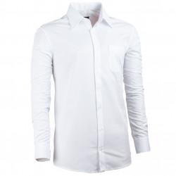 Predĺžená pánska košeľa regular fit biela Assante 20018