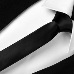 Slim čierna kravata Greg 99101