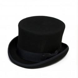 Čierny cylinder anglický klobúk vlna Mes 85019