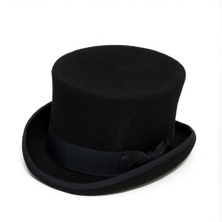 d5e47e347 Čierny cylinder anglický klobúk vlna Mes 85019