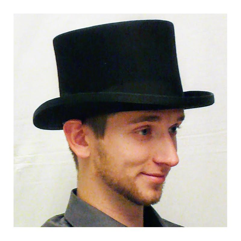 b7b3170b6 ... Čierny cylinder anglický pánsky klobúk 100% vlna Mes 85019
