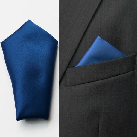 Modrá vreckovka do saka Assante 90638