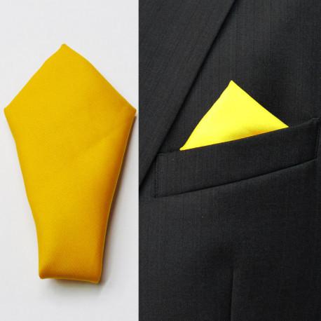 Žltá vreckovka do saka Assante 90641