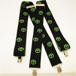 Čierno zelené traky hippie znak super široké Assante 90128