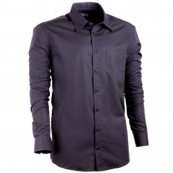 Čierna pánska košeľa Assante rovná 30109