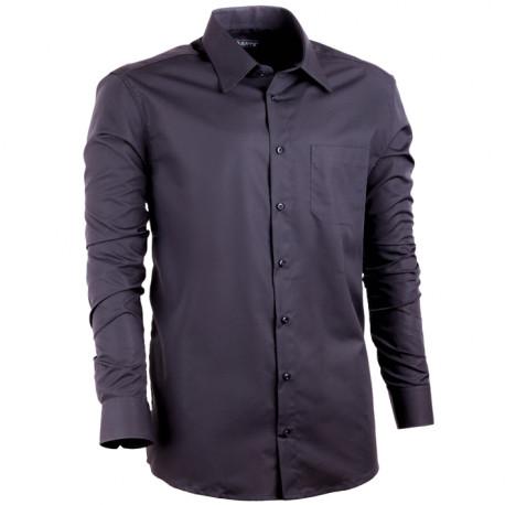 924c137ac421 Čierna pánska košeľa Assante rovná 30109
