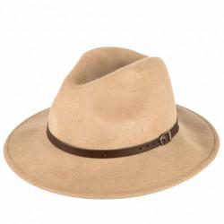 Hnedý pánsky klobúk Felt 161006