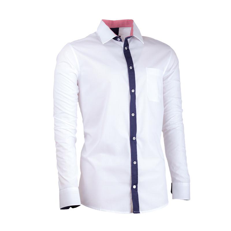 5d65c40cf775 Biela pánska košeľa s dlhým rukávom slim fit Assante 30687