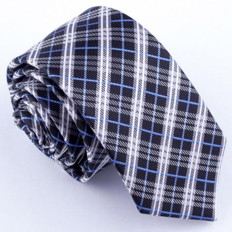 Slim fit čierna kravata Greg 99102