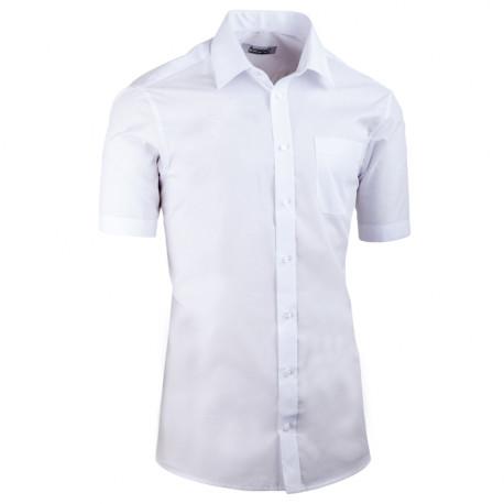 Biela pánska košeľa vypasovaná Aramgad 40030