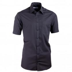 Čierna košeľa vypasovaná Aramgad 40131