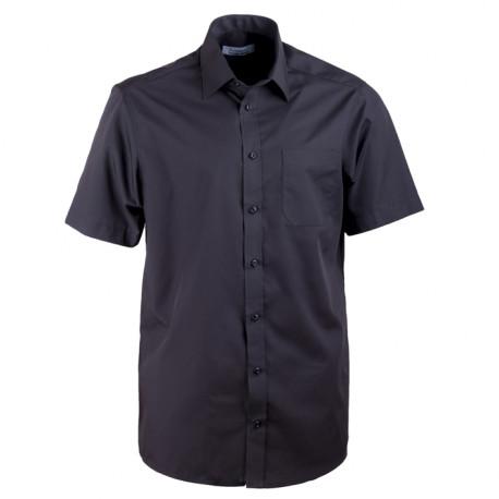 Čierna pánska košeľa rovná Aramgad 40132