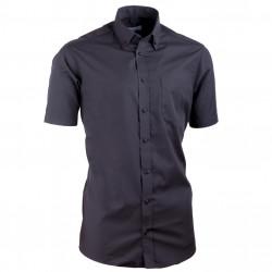 Košeľa s gombíkmi v golieri vypasovaná čierna Aramgad 40135