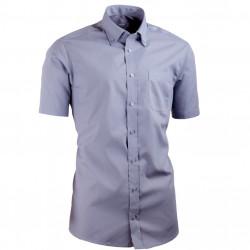 Sivá košeľa s gombíkmi v golieri vypasovaná Aramgad 40137