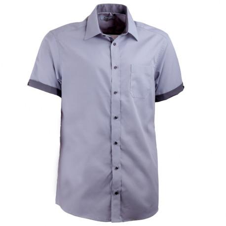 Sivá košeľa rovná kombinovaná Aramgad 40140