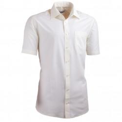 Šampaň pánska košeľa slim fit s krátkym rukávom Aramgad 40233