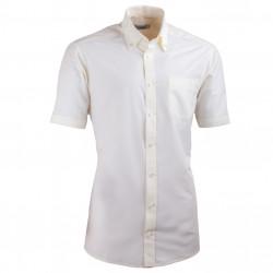Šampaň pánska košeľa slim fit s krátkym rukávom Aramgad 40235