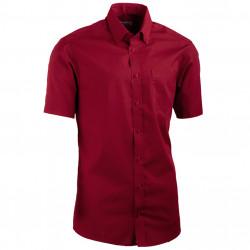 Červená pánska košeľa slim fit s krátkym rukávom Aramgad 40334