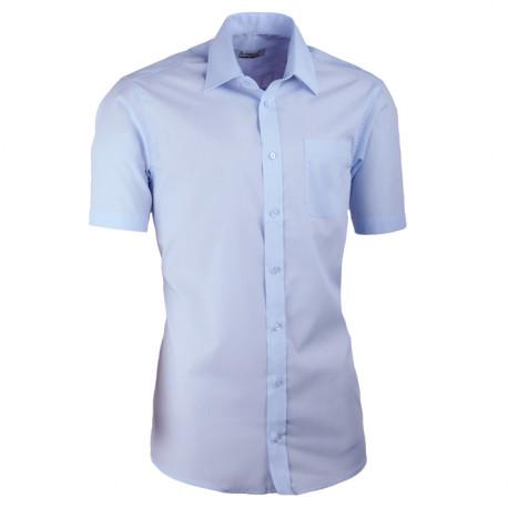 Modrá pánska košeľa s krátkym rukávom slim fit Aramgad 40432