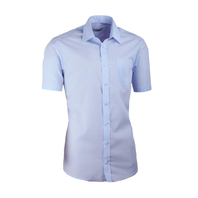 f1dd8690bb9d Modrá pánska košeľa s krátkym rukávom slim fit Aramgad 40432