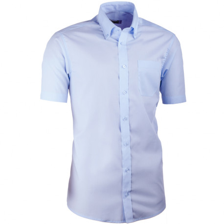 Modrá pánska košeľa slim fit s krátkym rukávom Aramgad 40434