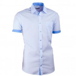 Modrá košeľa slim fit kombinovaná Aramgad 40436