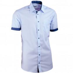 Košeľa modrá slim fit kombinovaná Aramgad 40438