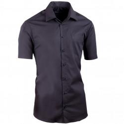 Čierna košeľa slim fit Assante 40115