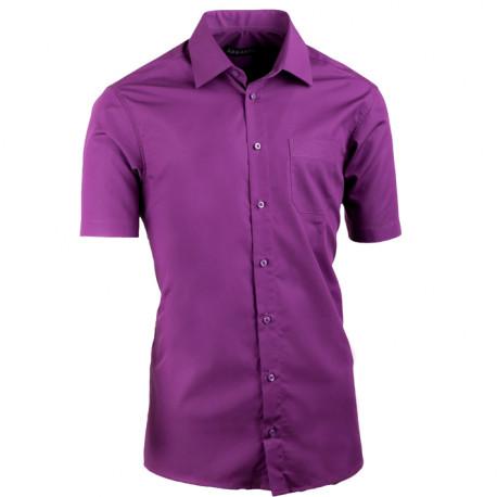 Fialová pánska košeľa vypasovaná Assante 40338