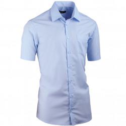 Modrá pánska košeľa vypasovaná Assante 40414