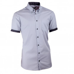 Pánska košeľa slim sivá s čiernou Assante 40117