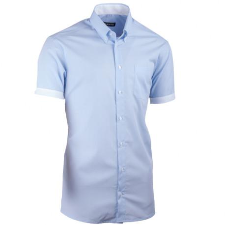 Modrá košeľa vypasovaná Assante 40416