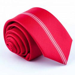 Červená slim fit kravata Greg 93166