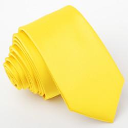 Žltá kravata slim Greg 99183