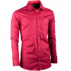 Bordó pánska košeľa slim fit s dlhým rukávom Aramgad 30380