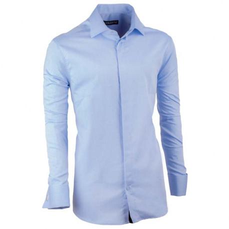 Košeľa na manžetový gombík slim fit blankytne modrá Assante 30421
