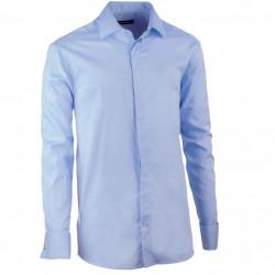 Košeľa na manžetový gombík regular blankytne modrá Assante 30422